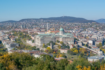 Aerial view on Budapest city