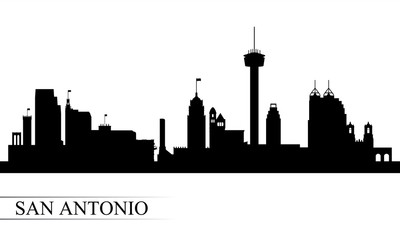 San Antonio city skyline silhouette background