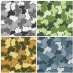 camouflage set of different colors