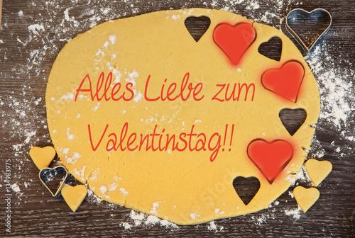 Alles Liebe Zum Valentinstag!, Valentinstag, Valentinsgrüsse, Herz, Copy  Space