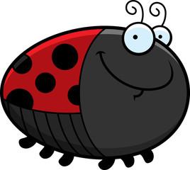 Happy Cartoon Ladybug