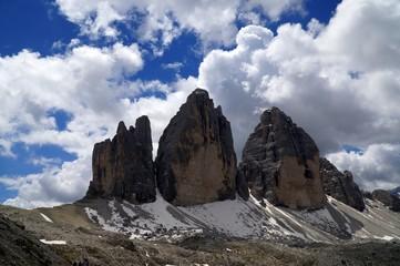 Drei Zinnen in den Sextner Dolomiten