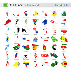 All World Vector Country Contour Flags - Collection