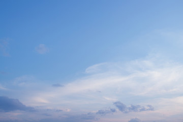 the sky in clouds