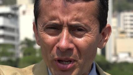 Hispanic Man Under Stress