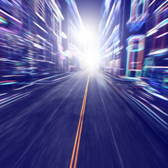 Speed motion in the city.