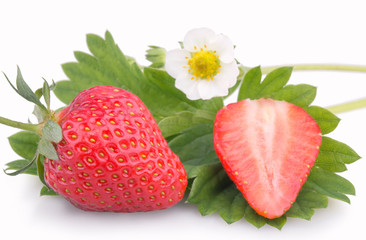 Strawberry with a flower