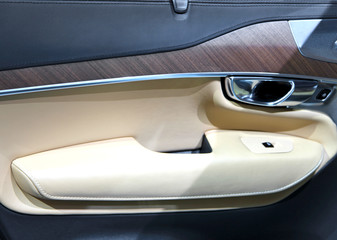 Luxury car door interior trim