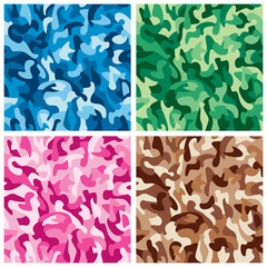 Monochrome Camouflage Patterns collection