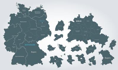 karte deutschland - bundesländer