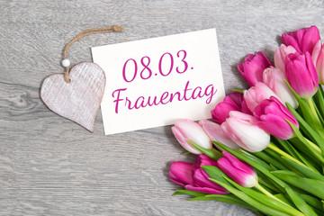 Tulpen zum Frauentag