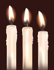 Three White Candles