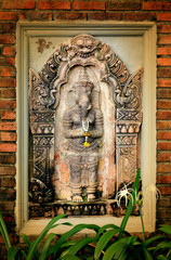 Photo sculpture of the god Ganesha