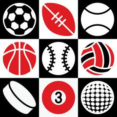 Sports Balls Checkerboard