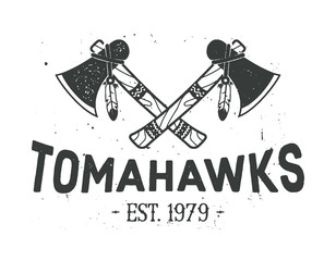 Crossed tomahawks design