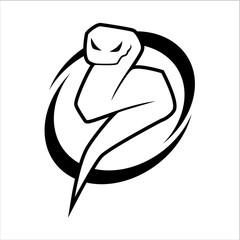 Snake vector logo design