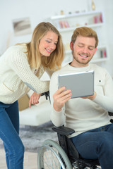 Couple can't get enough of their tablet