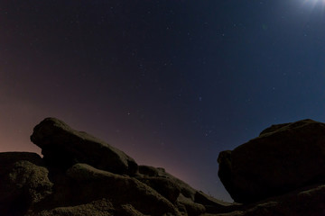Night scene with rocks