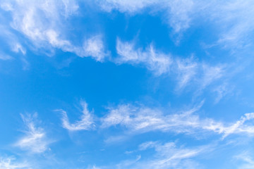 Beautiful blue sky with clouds. Abstract background