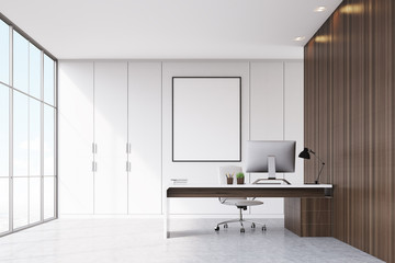 CEO office with framed poster