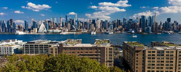 Midtown Skyline of Manhattan featuring the New VIA 57 West Pyramid as shot from Pallisades Av. NJ