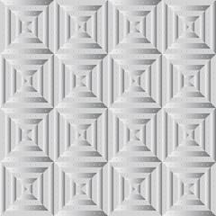 Бесшовный узор из чередующихся серых однотонных полос и серых полосок с градиентом. Сверху узор из маленьких кругов с серым градиентом.