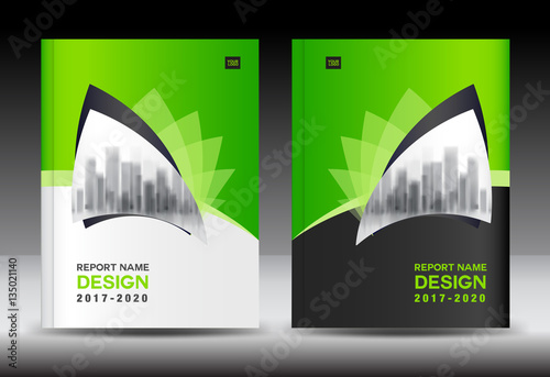 green cover design annual report template business brochure flyer