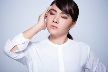 Woman has headache
