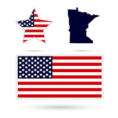 Map of the U.S. state of Minnesota on a white background. Americ