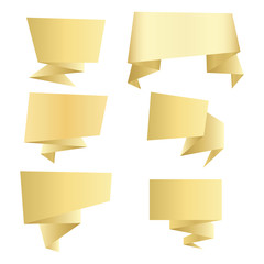 set of GOLD vector banners