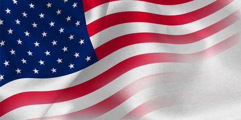 アメリカ  国旗 シルク 背景