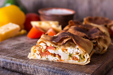 strudel with vegetables