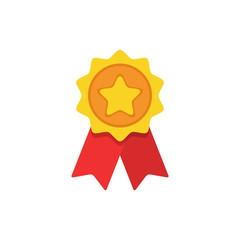 Award flat icon. Vector concept illustration for design.