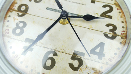vintage clock close-up