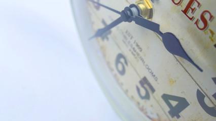 vintage clock close-up