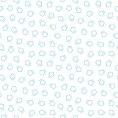 Abstract geometrc blue deco art memphis fashion pentagon pattern