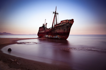 Acrylic Prints Shipwreck Wreck at Mediterranean Sea, Greece