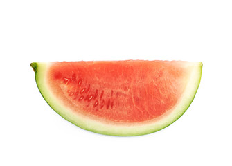 Single watermelon slice isolated