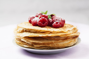 Stack of Russian-style pancakes