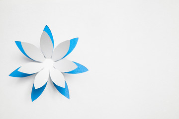 Paper origami flower