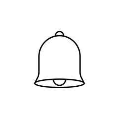 Bell line icon, education and school element, alarm service vector graphics, a linear pattern on a white background, eps 10.