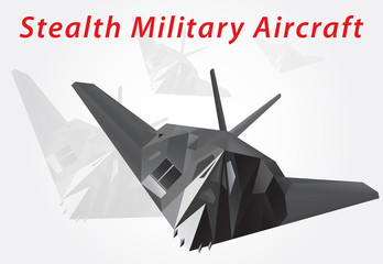 Stealth Military Aircraft. Vector illustration