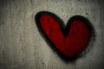 San Valentino,  heart, cement background