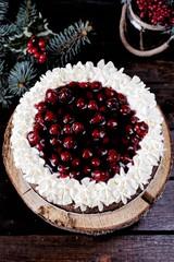 Black forest cherry  chocolate cheesecake