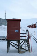 The bus-stop in Longyearbyen, Svalbard