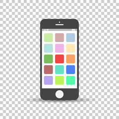 Smartphone icon vector. Flat vector illustration phone on isolated background
