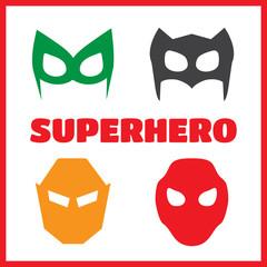 Super hero masks set.