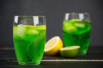 An estragon drink in a glass