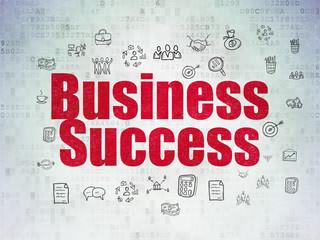 Finance concept: Business Success on Digital Data Paper background