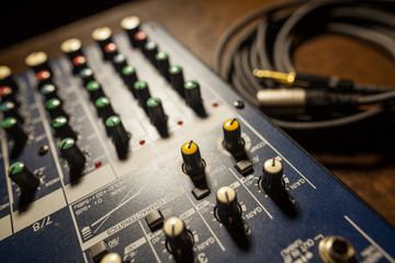 Mixer desk detail